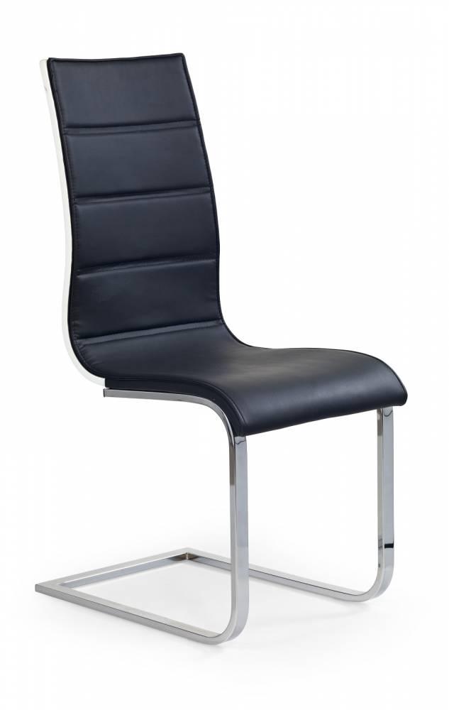 Jedálenská stolička K104 čierna + biela