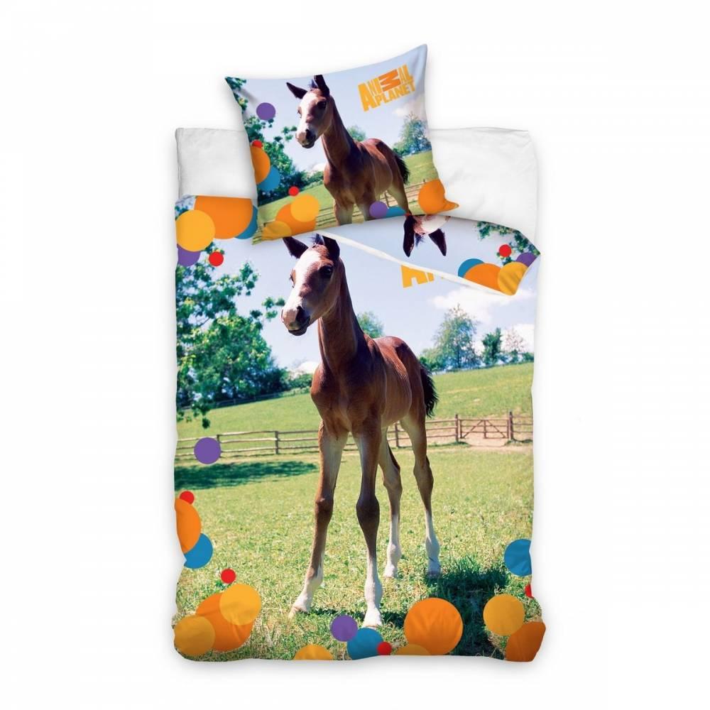 Tip Trade Bavlnené obliečky Animal Planet Žriebä, 160 x 200 cm, 70 x 80 cm