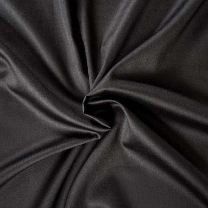 Kvalitex prestieradlo satén čierne, 140 x 200 cm