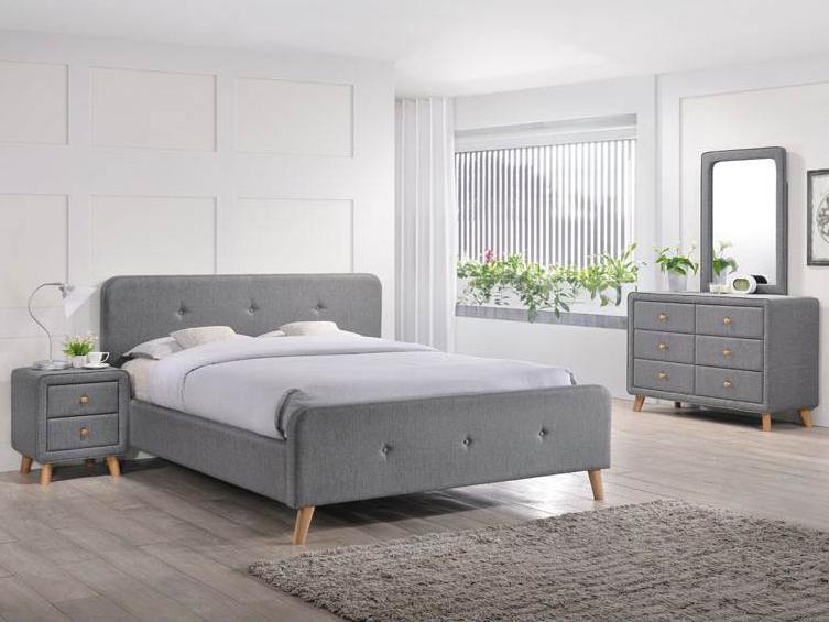 Manželská posteľ 140 cm Malmo (s roštom)