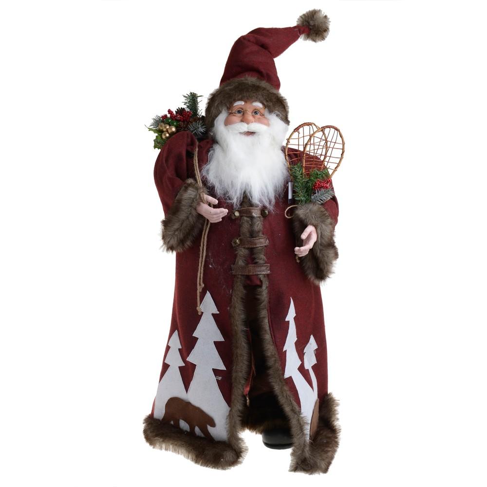 Vianočná látková dekorácia v tvare Santu InArt Farry
