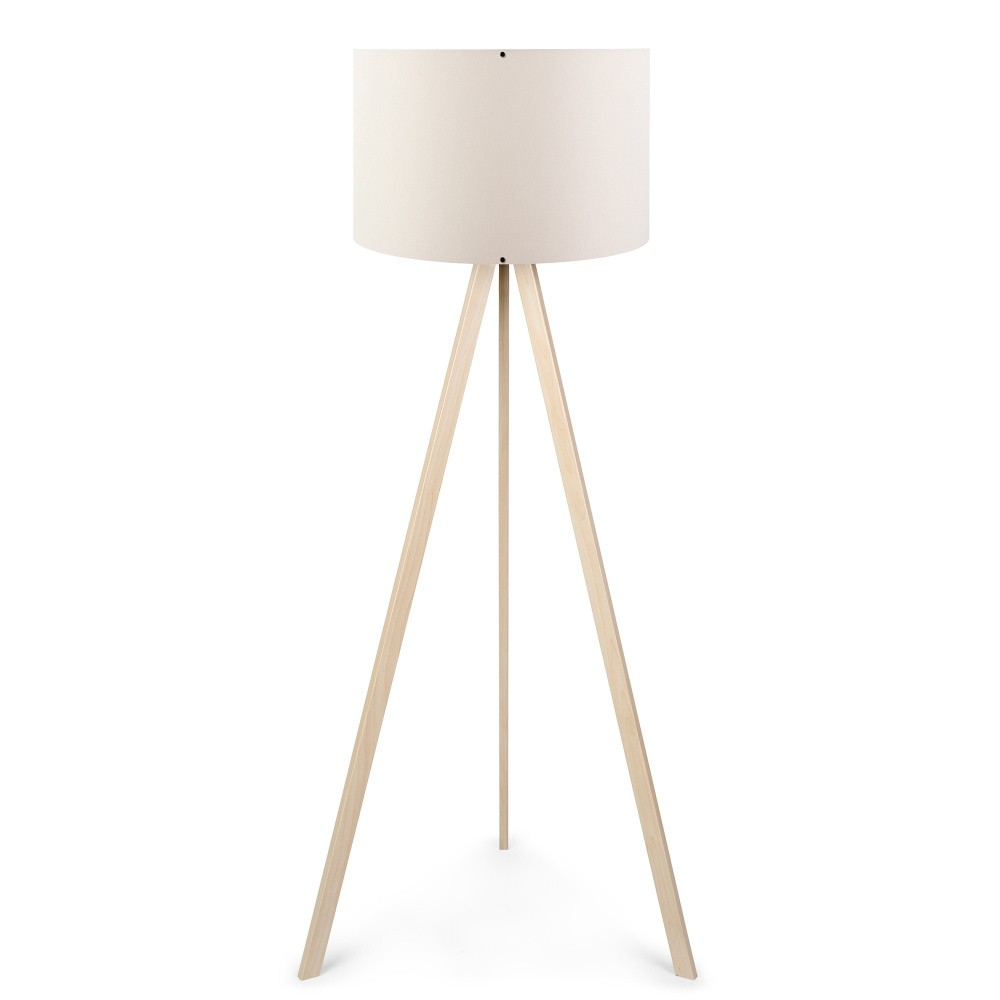 Krémová stojacia lampa Nus