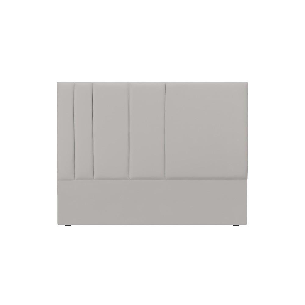 Sivé čelo postele Mazzini Sofas Dahlia, 120 × 140 cm