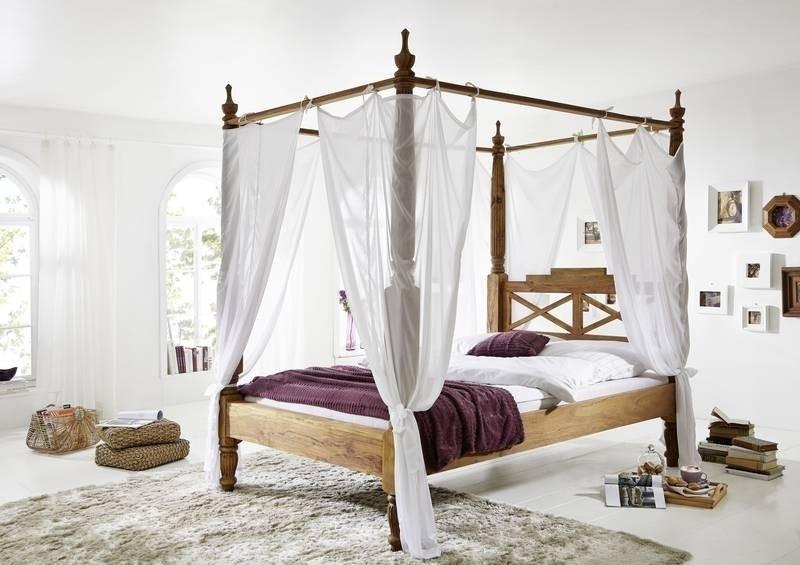 NATURE BROWN #532 Sheesham posteľ 180x200, masívne palisandrové drevo