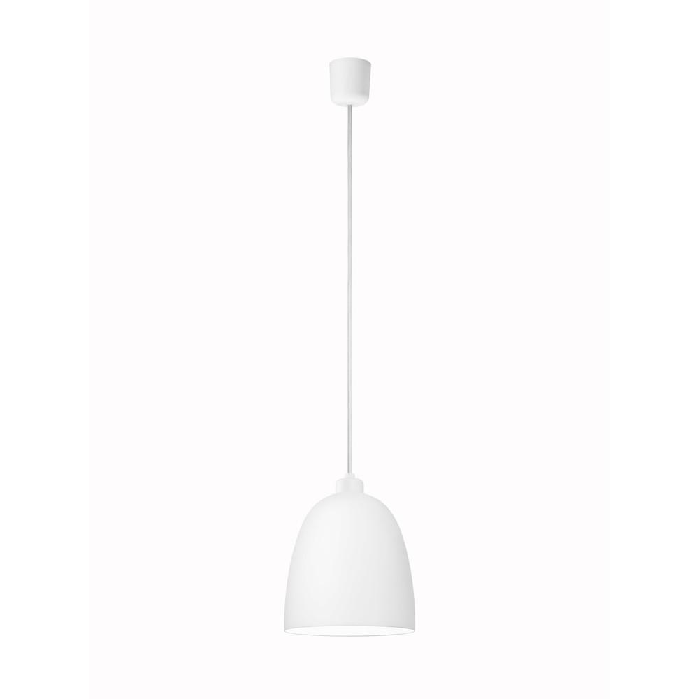 Biele matné závesné svietidlo Sotto Luce Awa