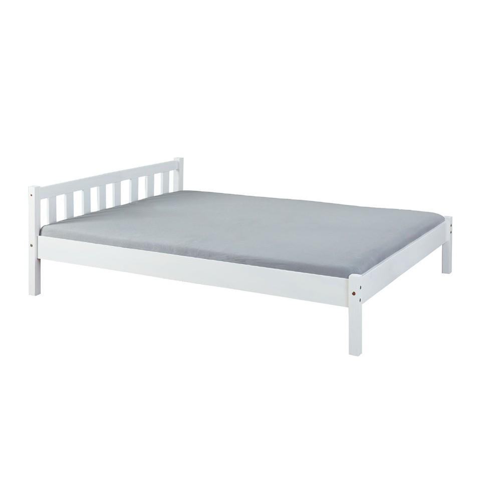ba72eebc9d60c Bílá dvoulůžková postel z masivního borovicového dřeva Interlink Vilmar,  140 x 190 cm