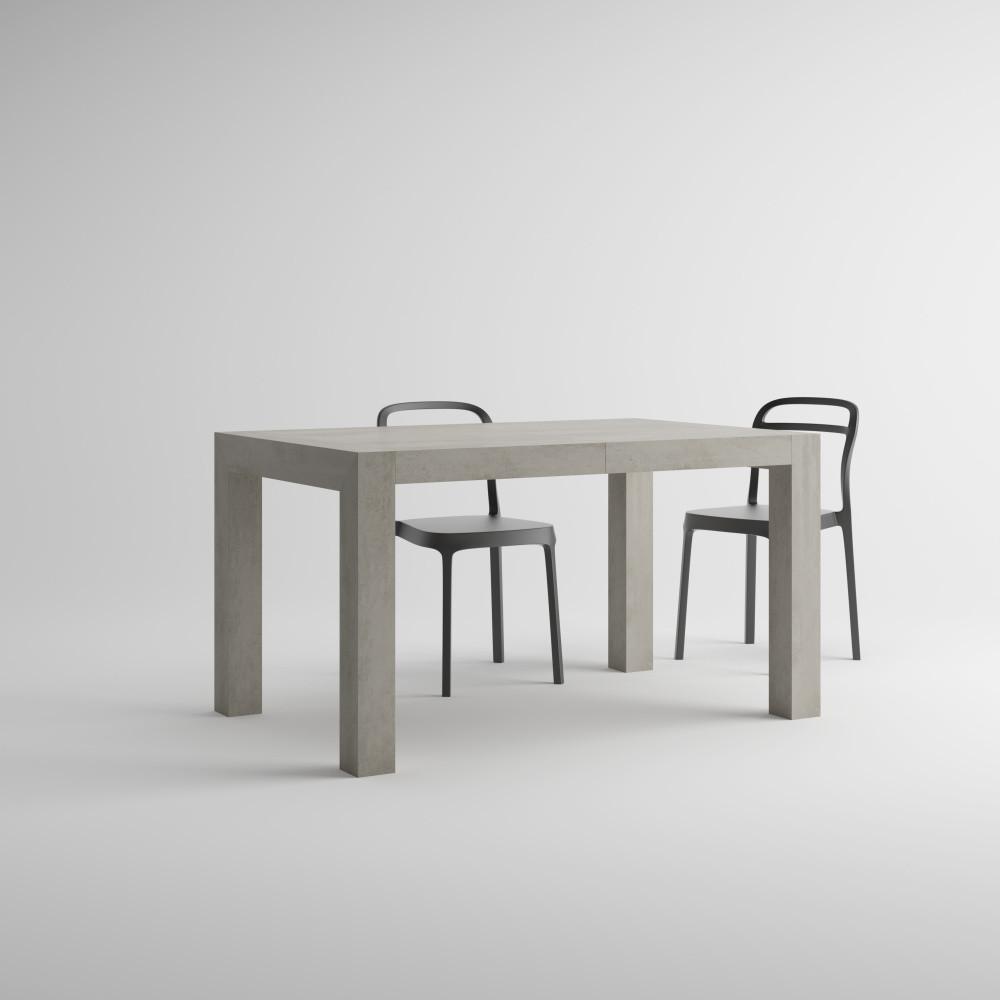 Rozkladací jedálenský stôl v dekore betónu MobiliFiver Iacopo, dĺžka140-220cm