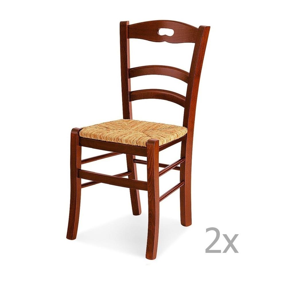 Sada 2 drevených jedálenských stoličiek Castagnetti Mare
