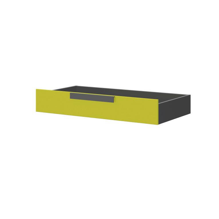 Sivo-zelený úložný box pod posteľ Szynaka-Meble Wow