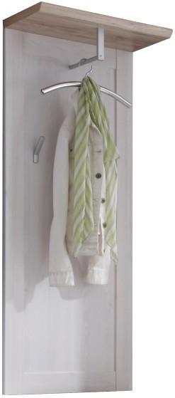 TEMPO KONDELA PROVENSAL vešiakový panel - biela / dub san remo