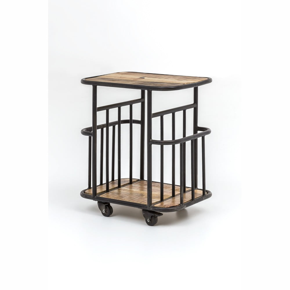 Servírovací vozík z mangového dreva s kovovou konstrukciou WOOX LIVING Industrial
