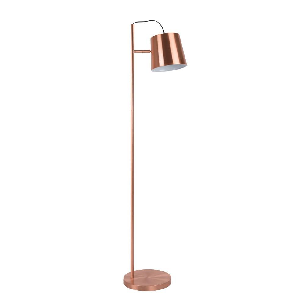 Stojacia lampa v medenej farbe Zuiver Buckle Head