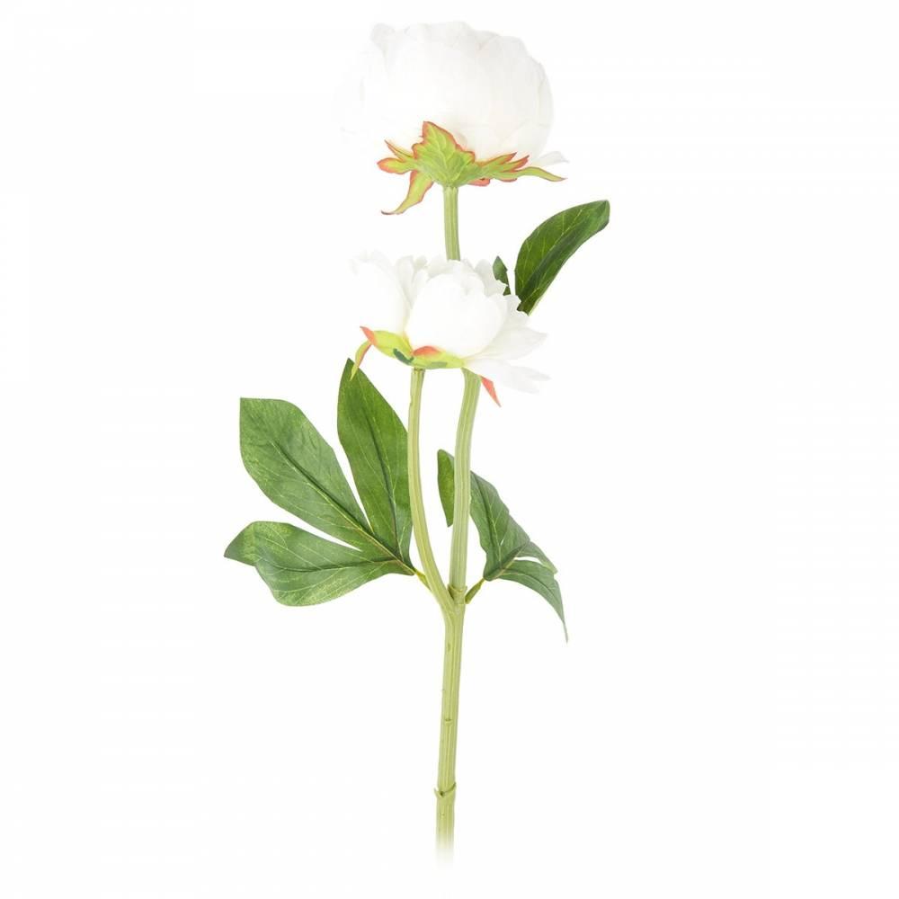 Umelá kvetina Pivonka biela, 58 cm