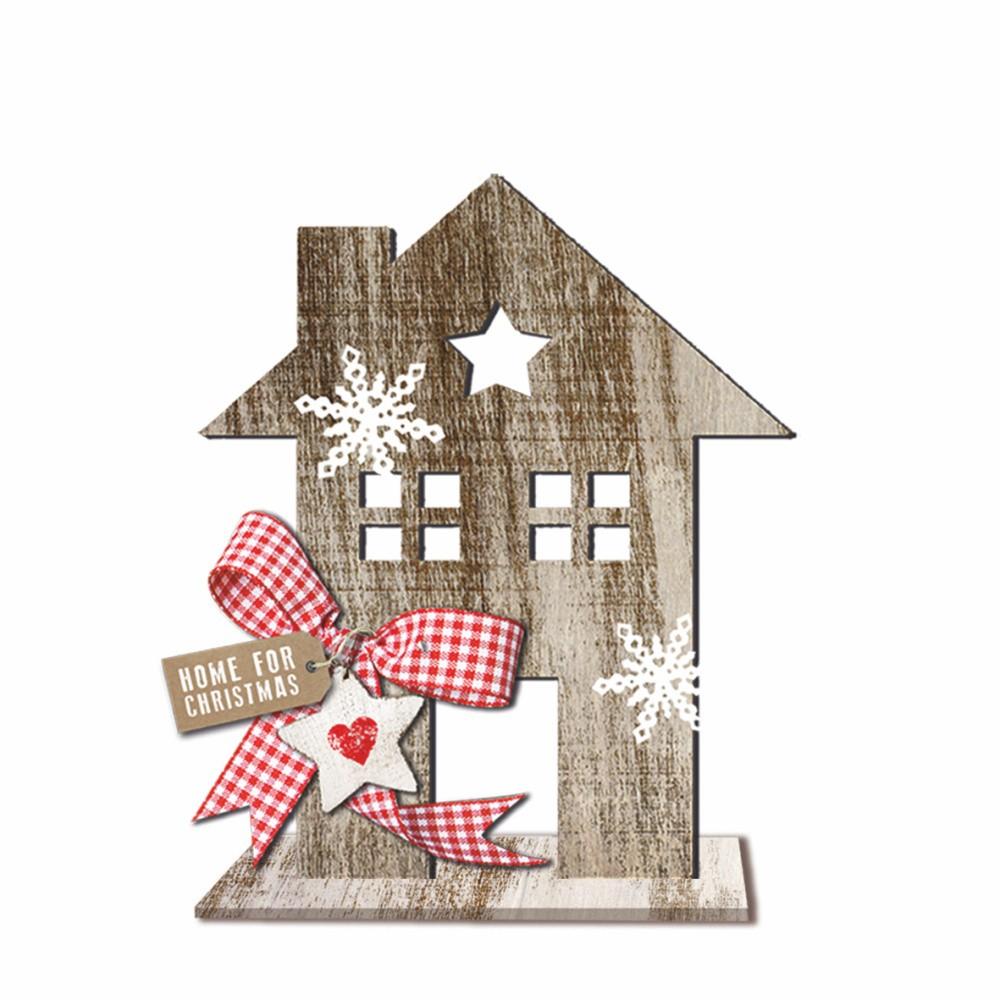 Drevená vianočná dekorácia PPD House Country Xmas, výška 20 cm