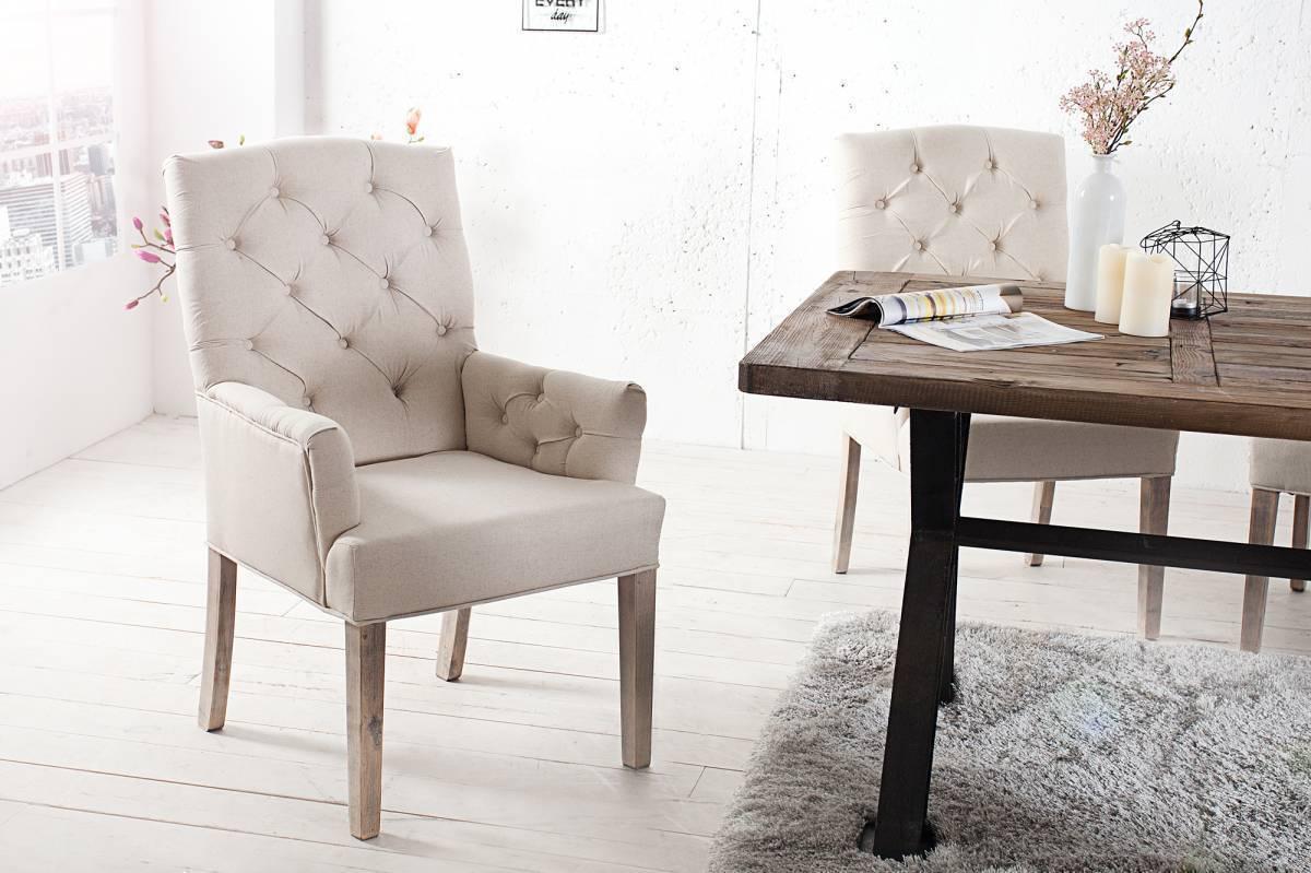 Jedálenská stolička KASTLE - béžová