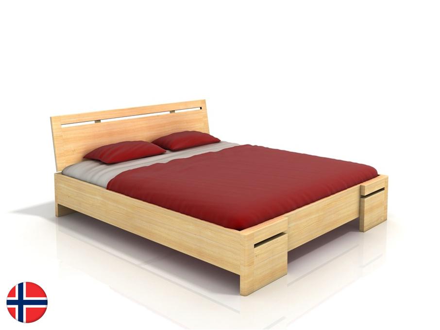 Manželská posteľ 180 cm Naturlig Bokeskogen High (borovica) (s roštom)