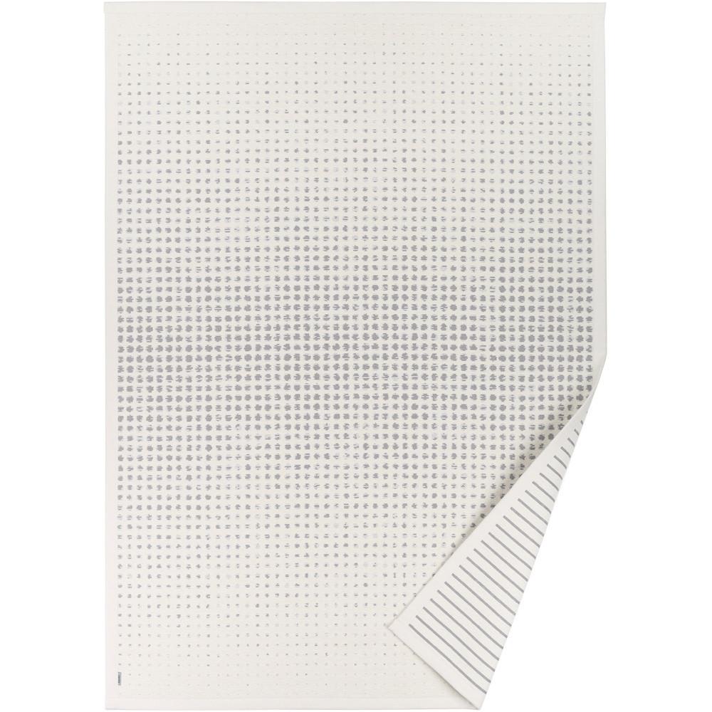 Biely vzorovaný obojstranný koberec Narma Helme, 70x140cm