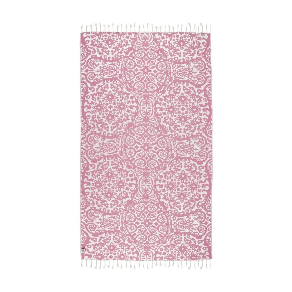 Ružová hammam osuška Kate Louise Camelia, 165x100cm