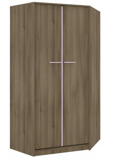 Rohová šatníková skriňa GEOMETRIC 01 / AGÁT   Farba: Fialová