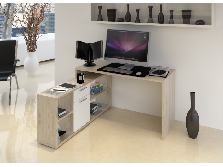 PC stolík Noe new (dub wotan + biela)