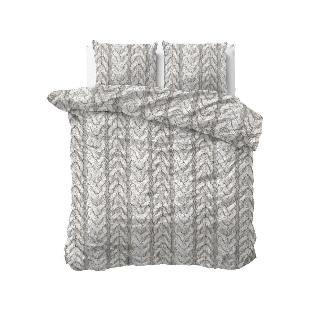 Flanelové obliečky na dvojlôžko Zensation Knitted, 200×200 cm