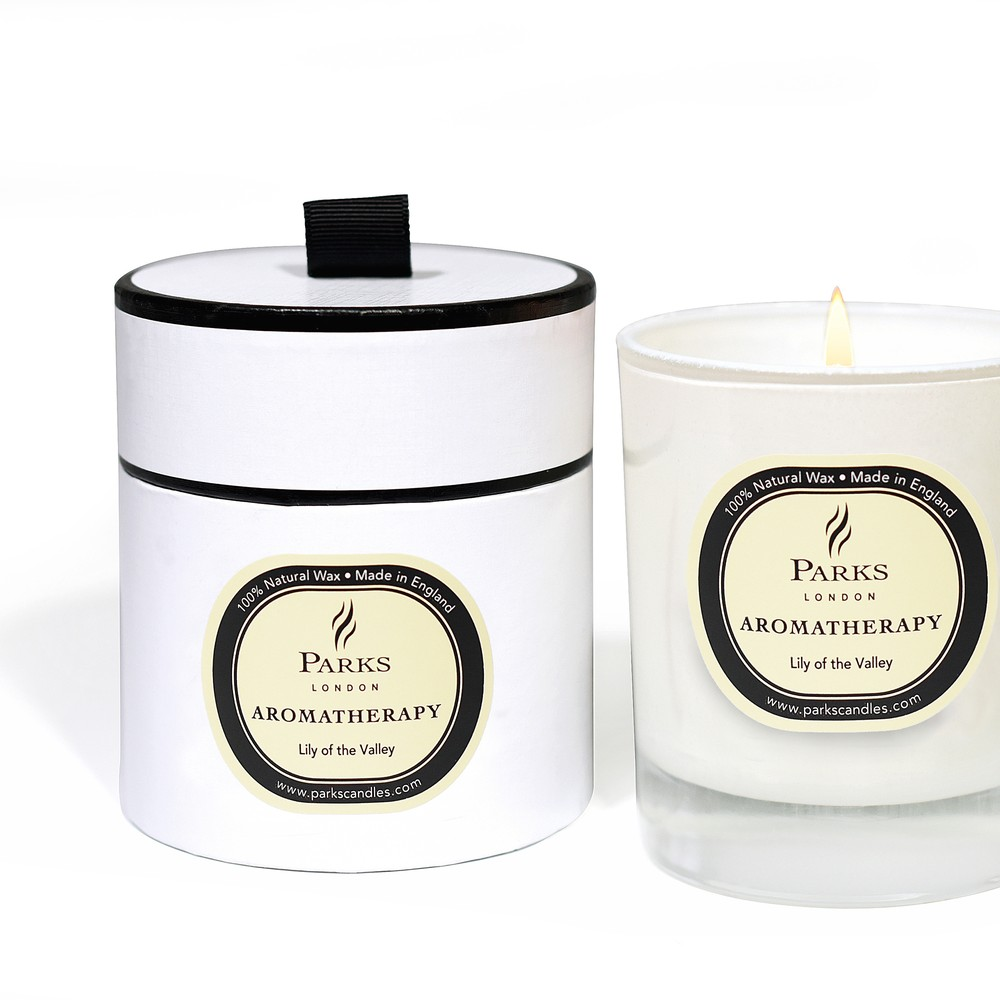 Sviečka s vôňou ľalie Parks Candles London Aromatherapy, 45 hodín horenia