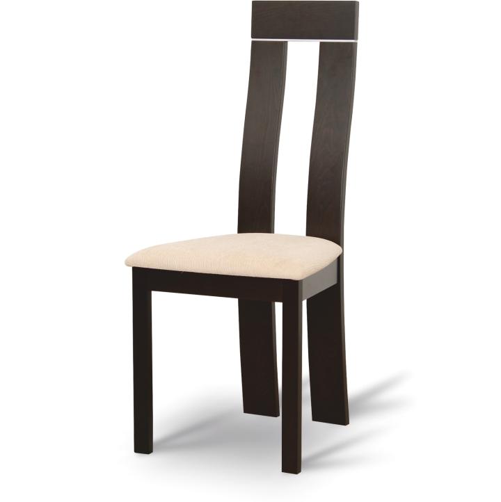 TEMPO KONDELA DESI jedálenská stolička - wenge / béžová