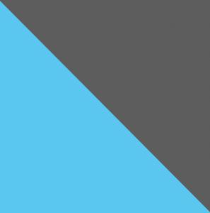Šatníková skriňa CUBICO CU8   Farba: antracit/tyrkysová