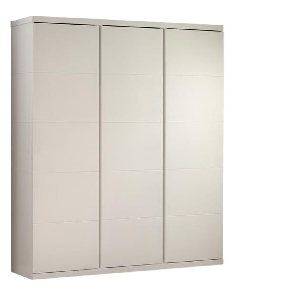Biela šatník Vipack Lara, výška 204 cm