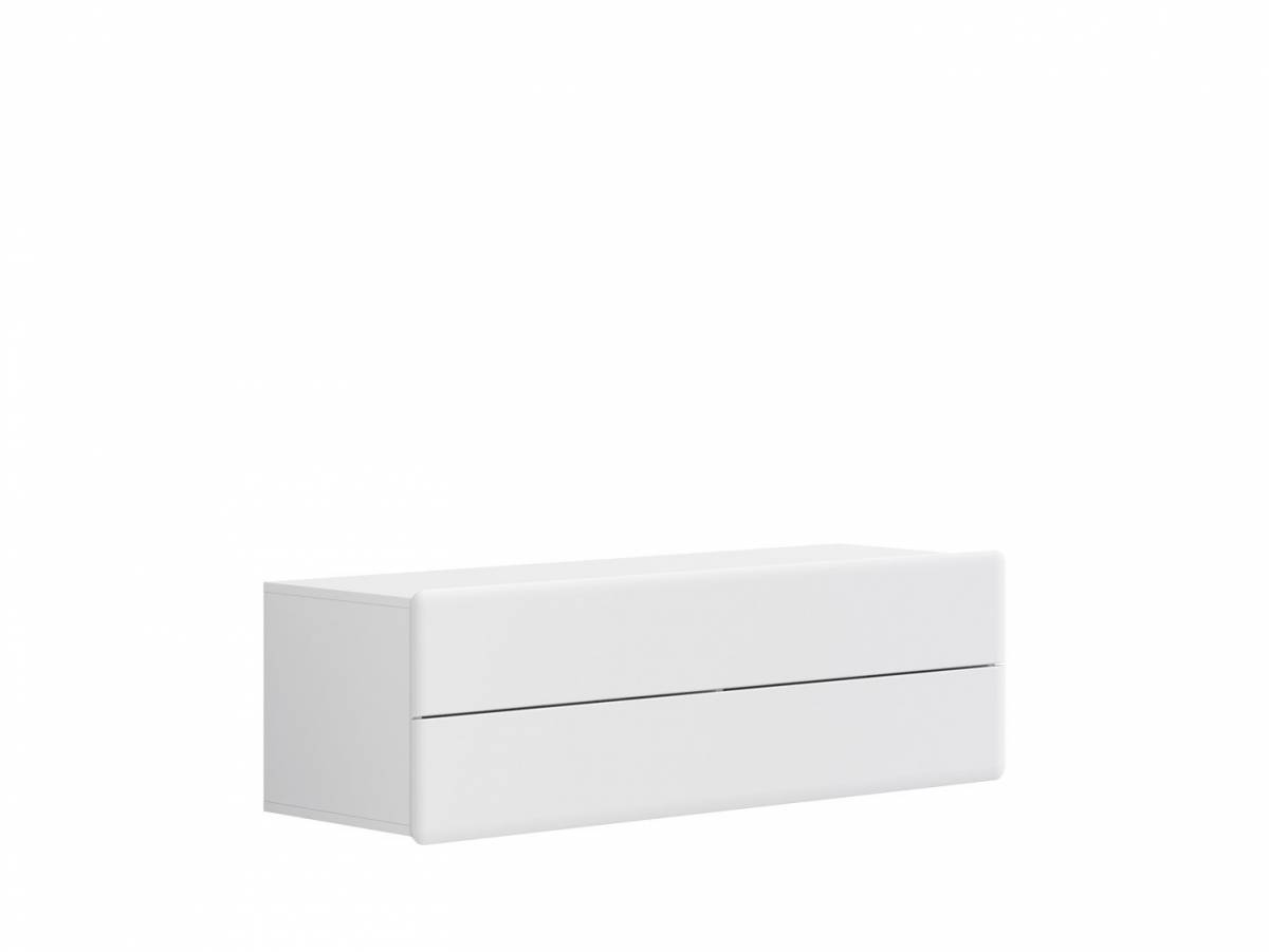 TV stolík/skrinka Possi Light RTV2S 4/13 (biela + lesk biely)