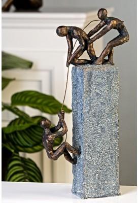 Dekoratívna soška ASSISTANCE - antická sivá