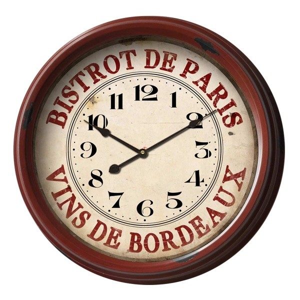 Hodiny Antic Line Bistrot de Paris, ⌀ 50 cm