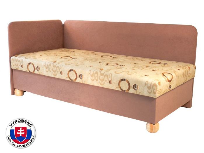 Jednolôžková posteľ (váľanda) 80 cm Siba (s molitanovým matracom) (L)