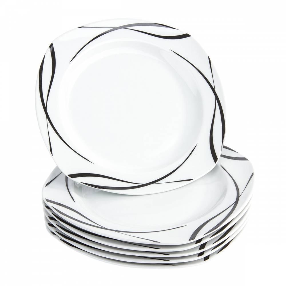 Domestic 6-dielna sada plytkých tanierov Oslo, 25 cm