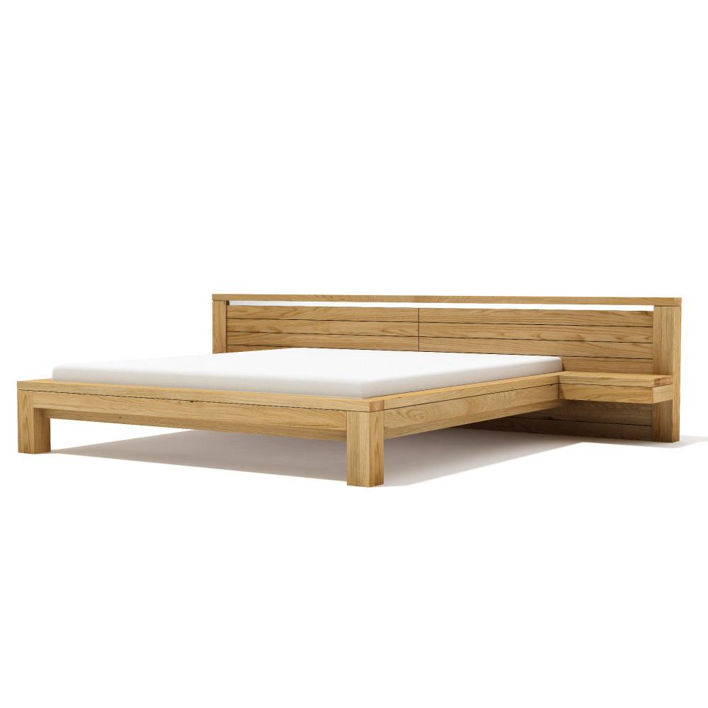 Posteľ z masívneho dubového dreva Javorina Next, 160x200cm
