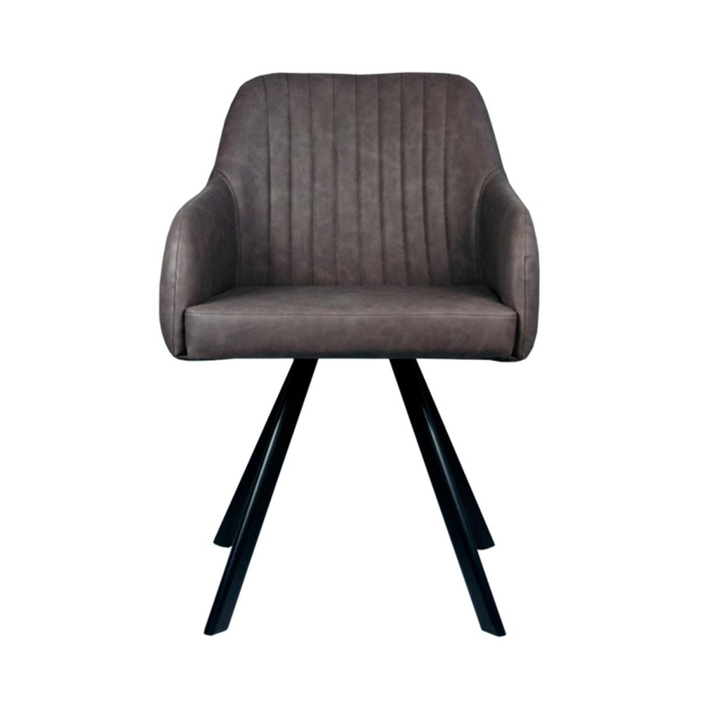 Antracitová jedálenská stolička LABEL51 Floor