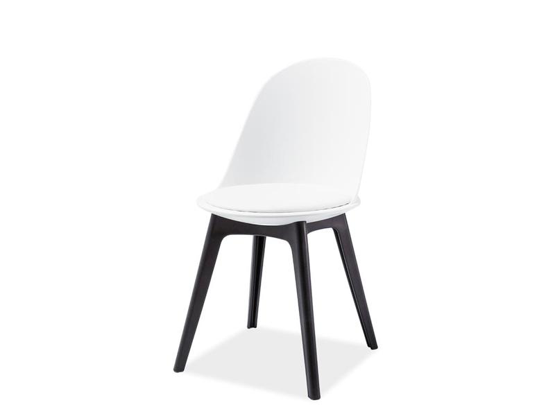 MATT I jedálenská stolička, čierna/biela