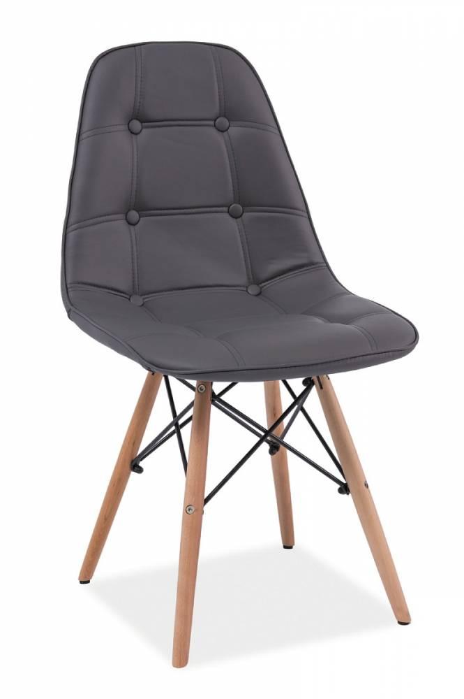 Jedálenská stolička LEXA, buk/šedá