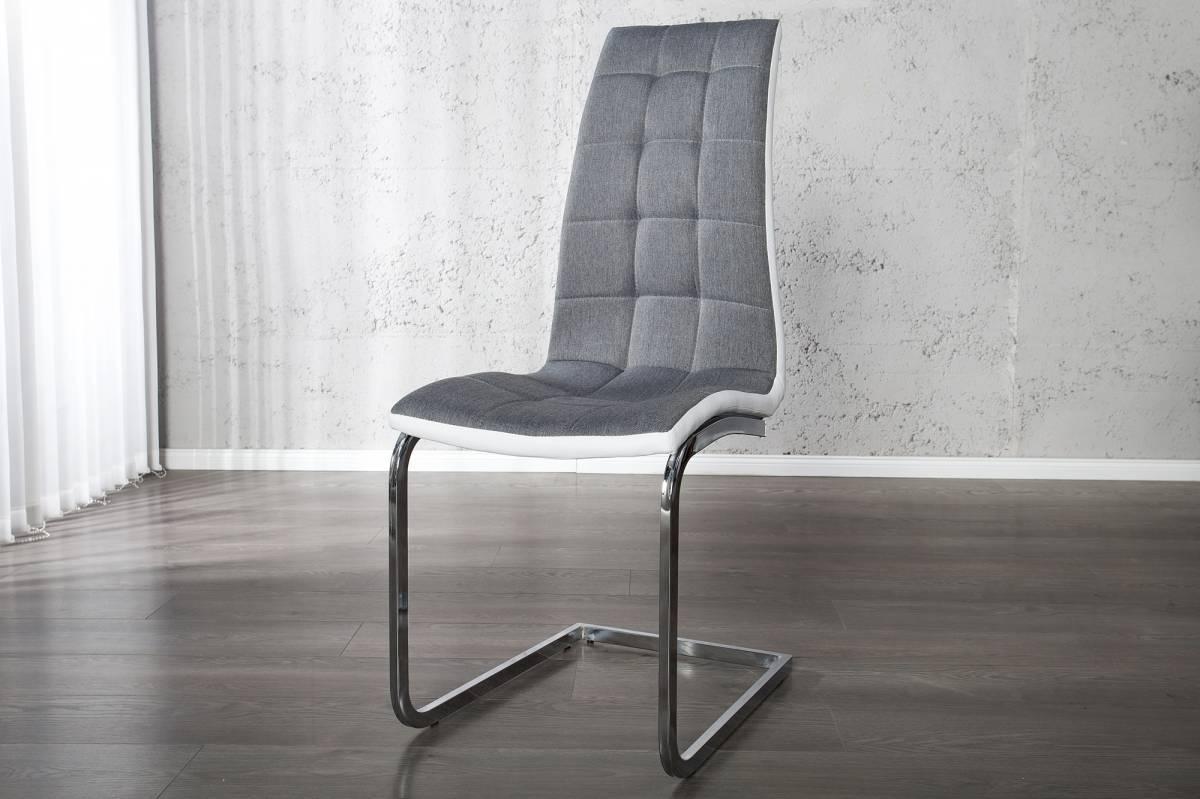 Jedálenská stolička LONDON - sivá/biela