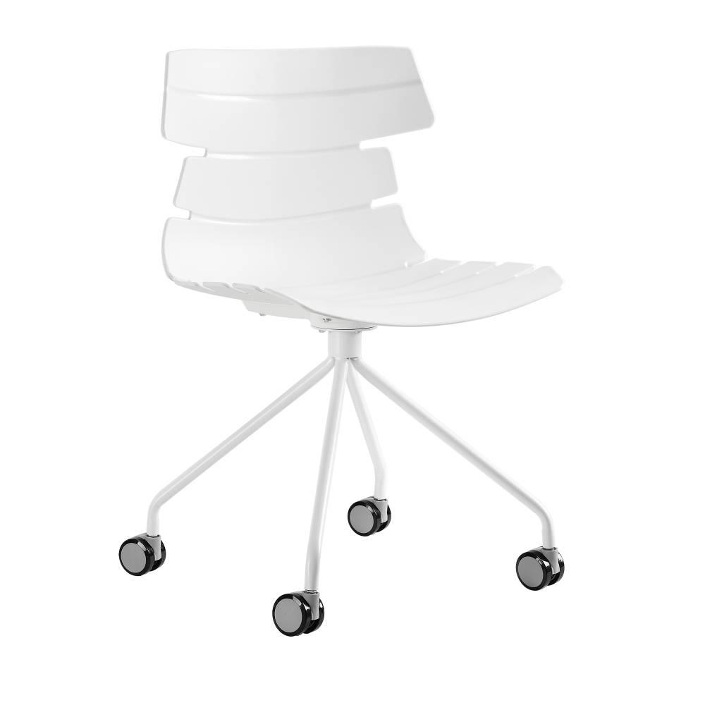 [en.casa]® Kancelárska stolička - biela