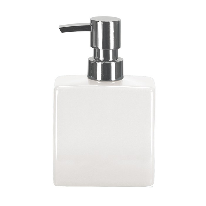 Dávkovač mydla flakón hladký, biely