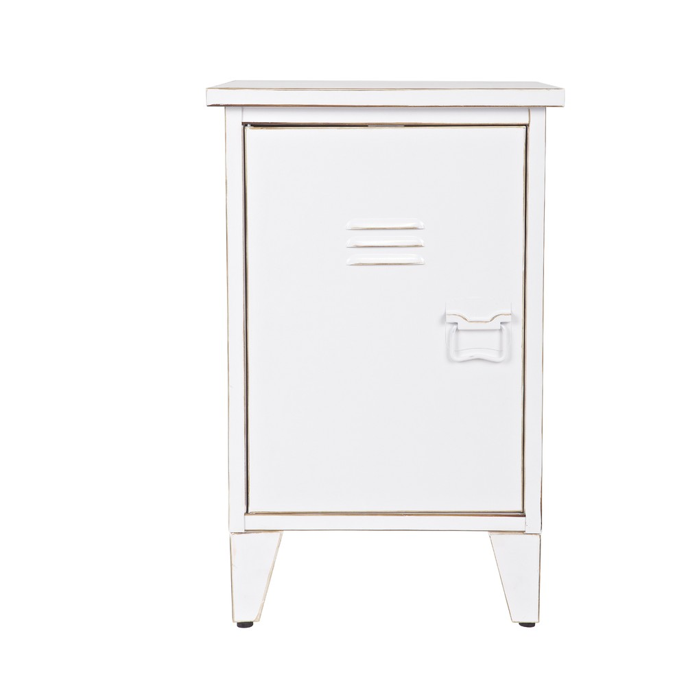 Biely nočný stolík s otváraním na ľavej strane De Eekhoorn Max