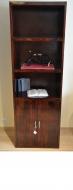 Furniture nábytok  Masívna knižnica so skrinkou z Palisanderu  Náz  65x35x200 cm