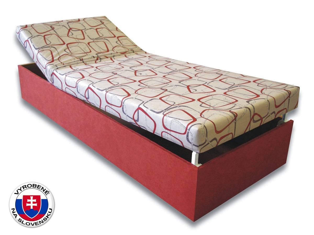 Jednolôžková posteľ (váľanda) 80 cm Darina (Tehlová 41 + Dodo 1008)
