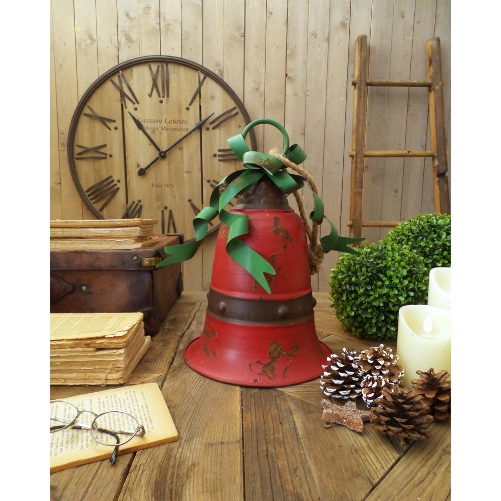 Sada 2 dekoratívnych červených zvonov Orchidea Milano Xmas, výška 39 cm