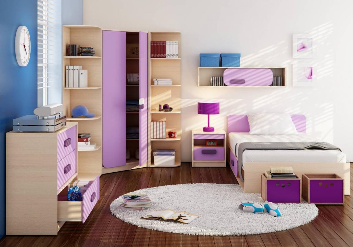 Detská izba Gusto krémová / fialová