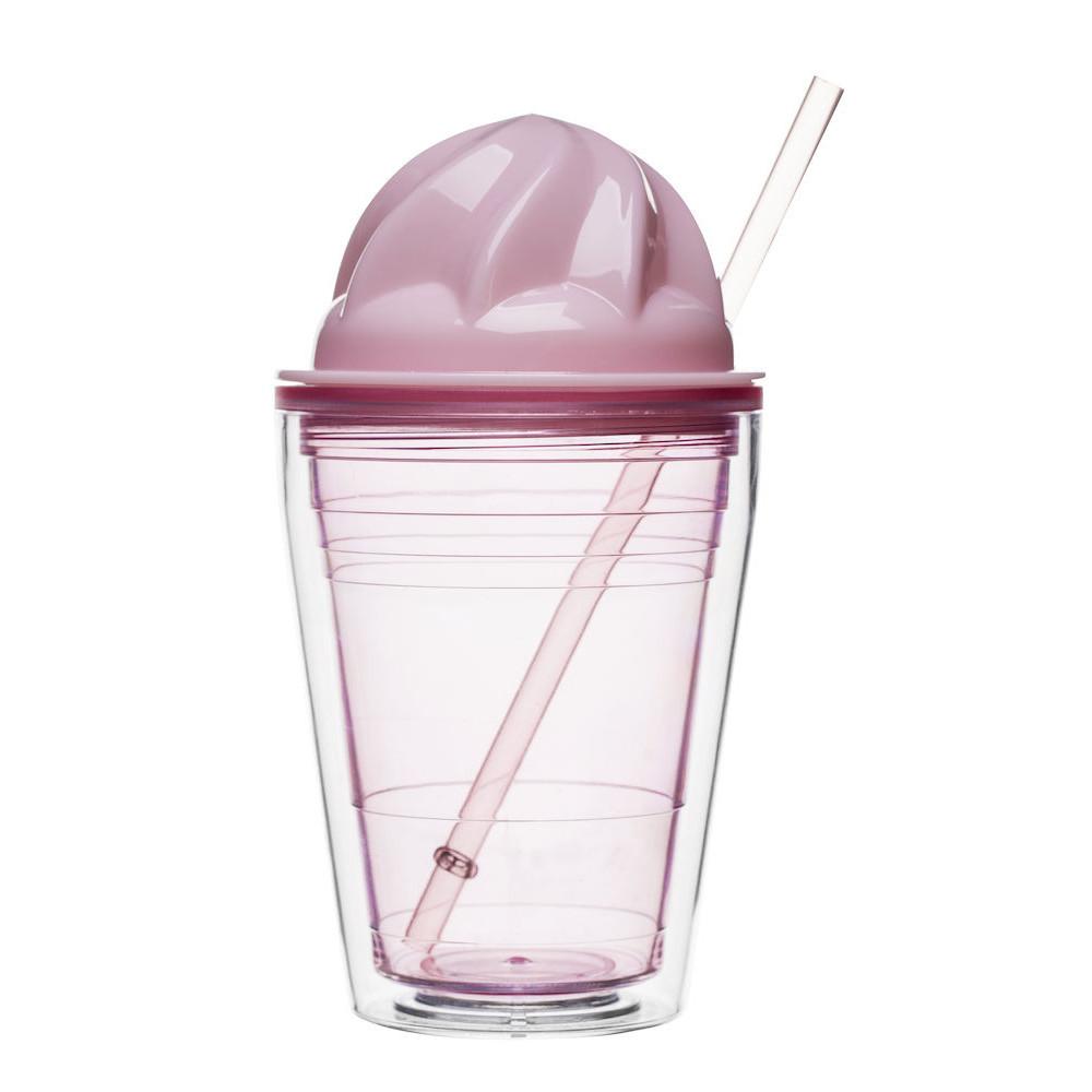 Hrnček na mliečne koktaily Sagaform, ružový