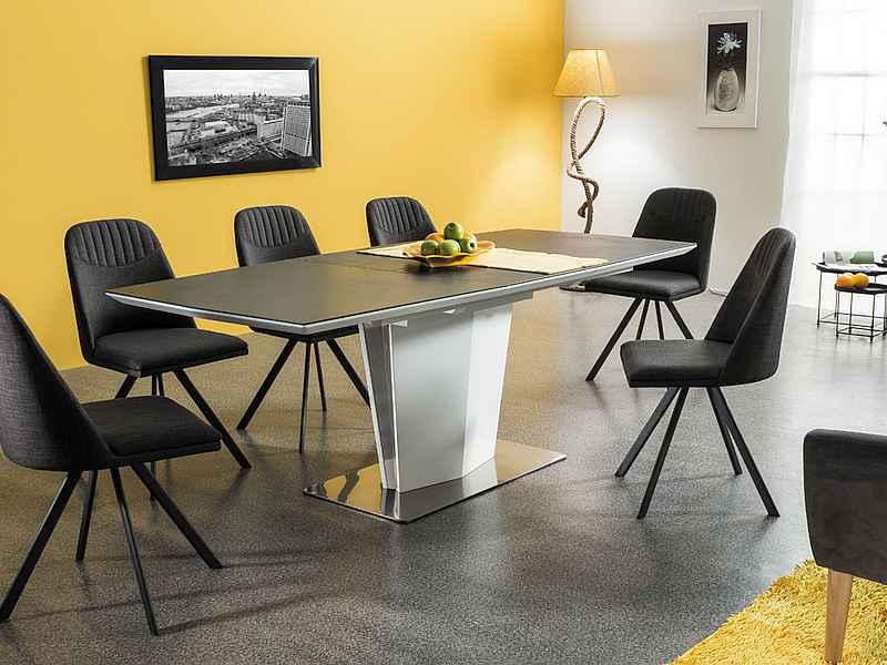 LACIO jedálenský rozkladací stôl, šedý kameň