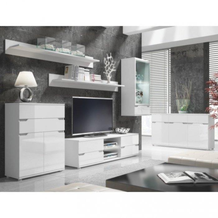 TEMPO KONDELA ADONIS obývacia izba - biela / biely vysoký lesk