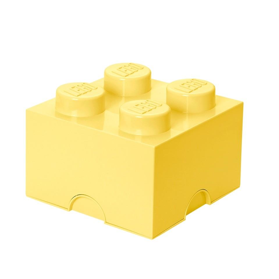 Svetložltá úložná kocka LEGO®